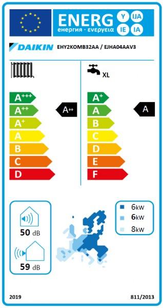 DAIKIN Altherma H Hybrid, 32 kW Gasbrennwertkessel und Wärmepumpe IG