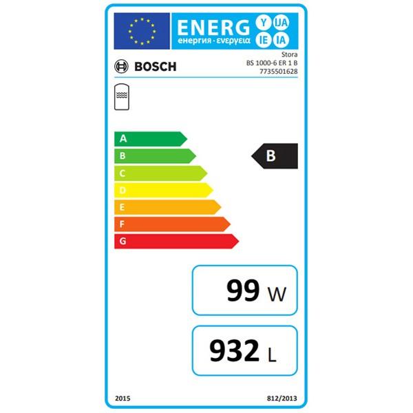 BOSCH Pufferspeicher STORA BS 1000-6 ER 1 B 2295x1030, 965L, silber, Solarwärmetaus.