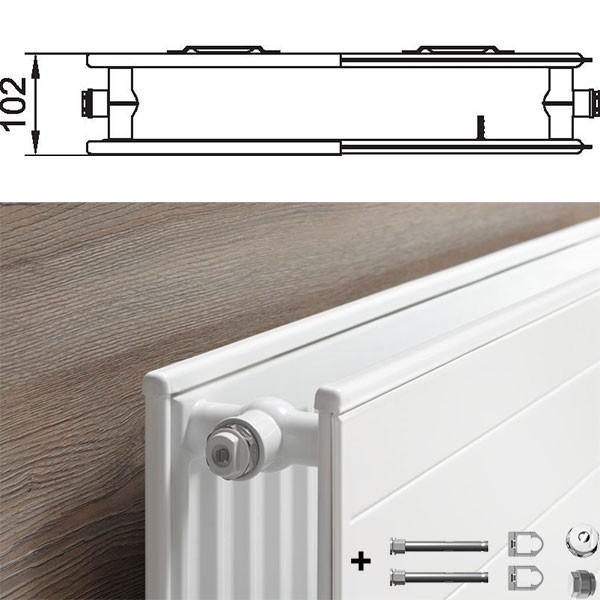 kermi therm x2 line kompakt hygieneheizk rper typ 20. Black Bedroom Furniture Sets. Home Design Ideas