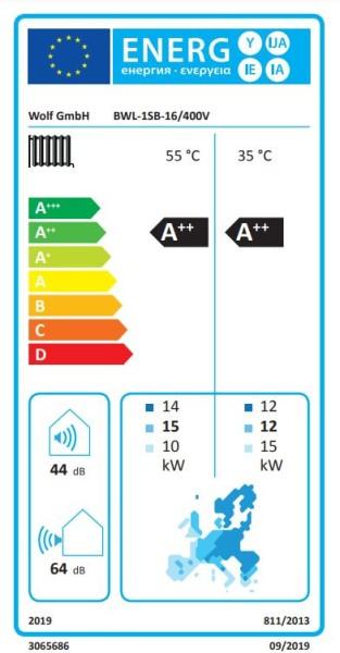 WOLF Wärmepumpe Luft-Wasser BWL-1S-16 in Splitbauweise, 400V, m. E-Heizelement
