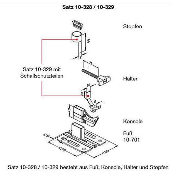 WEMEFA Standkonsolen Standfix 329 Stahl-, Guß- und Röhrenradiatoren, ohne Standrohr