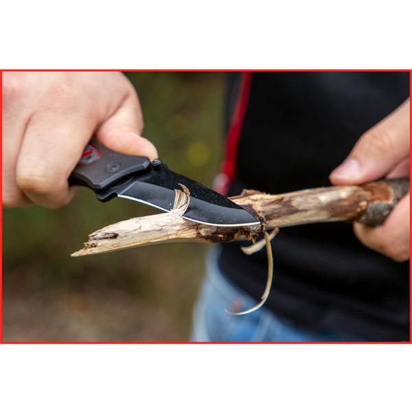 KS-Tools Klingen-Klapp-Messer mit Arretierung, in Gürteltasche
