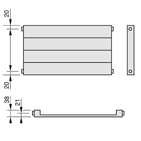 Zehnder Radiapanel, Heizwand Typ H, horizontal