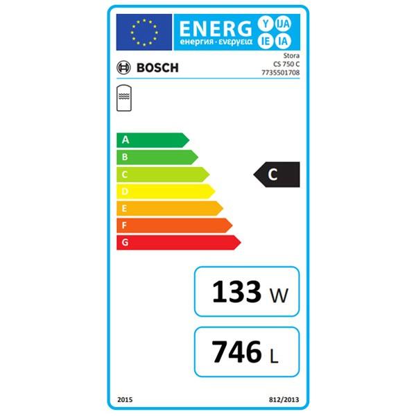 BOSCH Solar-Warmwasserspeicher CS 750 C 2040x950, 741 L, weiß, Tank-in-Tank