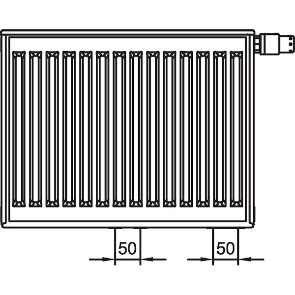 Kermi therm-x2 Profil-Vplus-Ventilheizkörper Typ 12, zweireihig ein Konvektor