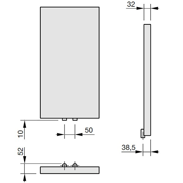 Zehnder Plano, Heizwand Typ PV10, vertikal
