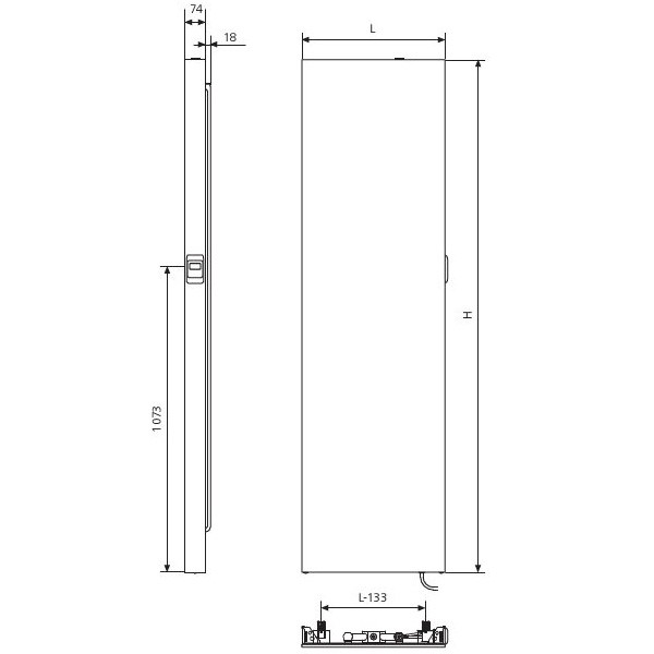Kermi x-therm +e Elektro-Flachheizkörper Plan Vertikal