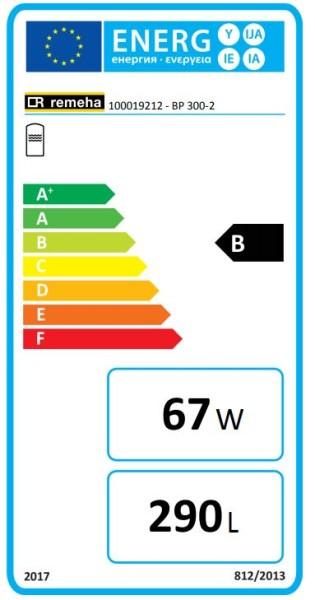 Remeha RE Trinkwasserspeicher BP 300-2 EC632, Beistellspeicher, 300 L., weiß