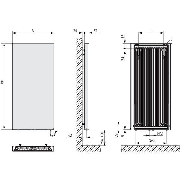 Kermi Rubeo Elektro-Zusatzbetrieb Design-Badheizkörper