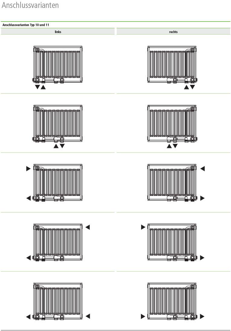 Kermi Flachheizkörper Line Ventil Plus Anschlussvarianten