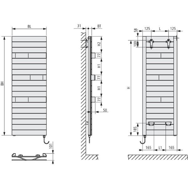 Kermi Tabeo-Elektro Design-Badheizkörper