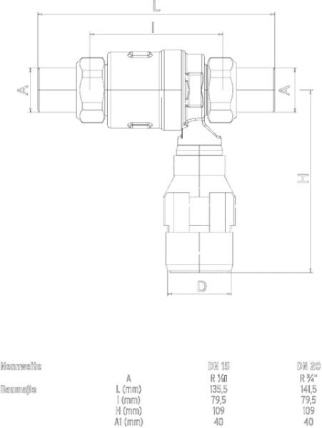 SYR Systemtrenner CA 6800 DN 20