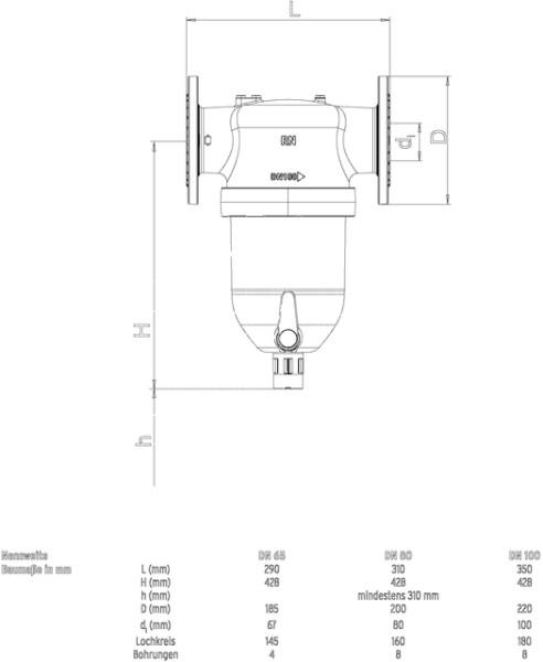 SYR Flanschfilter 6380 - neu DN 80