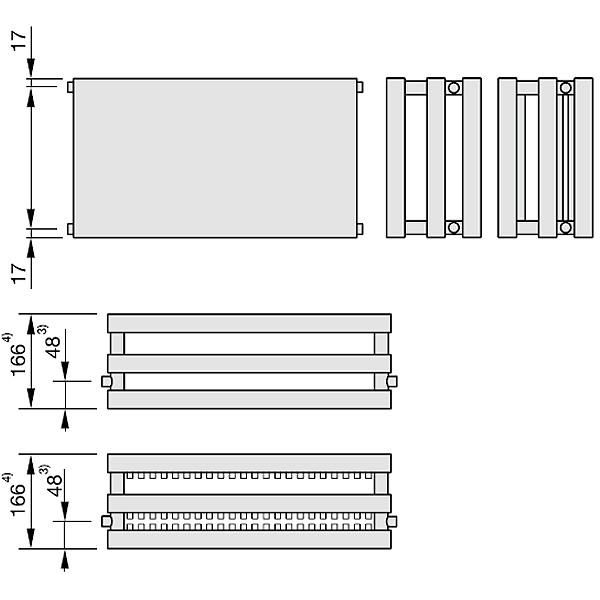 Zehnder Plano, Heizwand Typ PH33, horizontal