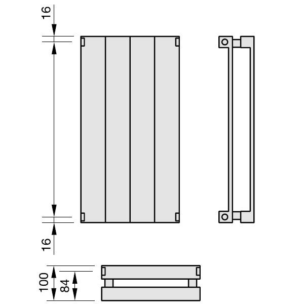 Zehnder Radiapanel, Heizwand Typ VV, vertikal