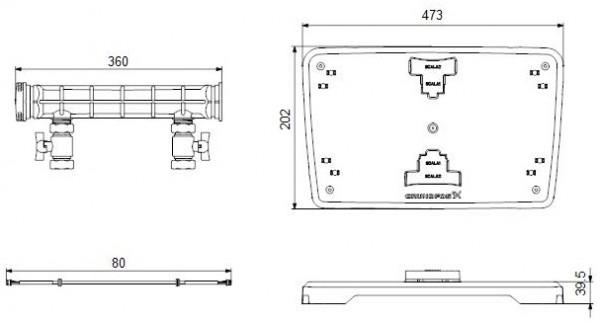 GRUNDFOS Zubehör für Hauswasseranlagen Doppelpumpen Set SCALA1