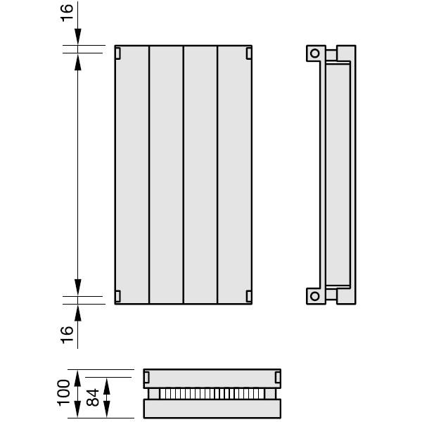 Zehnder Radiapanel, Heizwand Typ VLVL, mit Lammele, vertikal