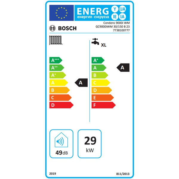 BOSCH Gas-Brennwertgerät, Kompaktmodul Condens GC 9000i WM 30/150 B 23