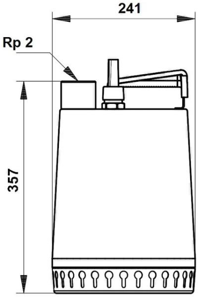 GRUNDFOS Schmutzwasserpumpe Unilift AP12.50.11.1 10 m Kabel, 230V, GRUNDFOS # 96001958