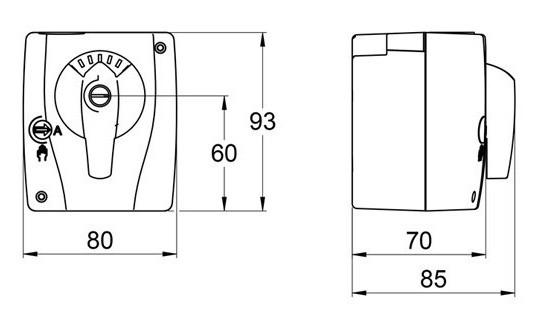 AHT Stellmotor für 3-Wege-Mischer 230 VAC