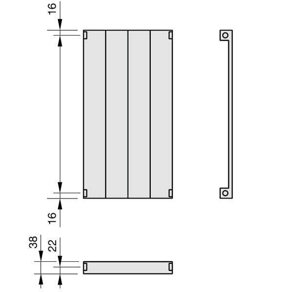 Zehnder Radiapanel, Heizwand Typ V, vertikal
