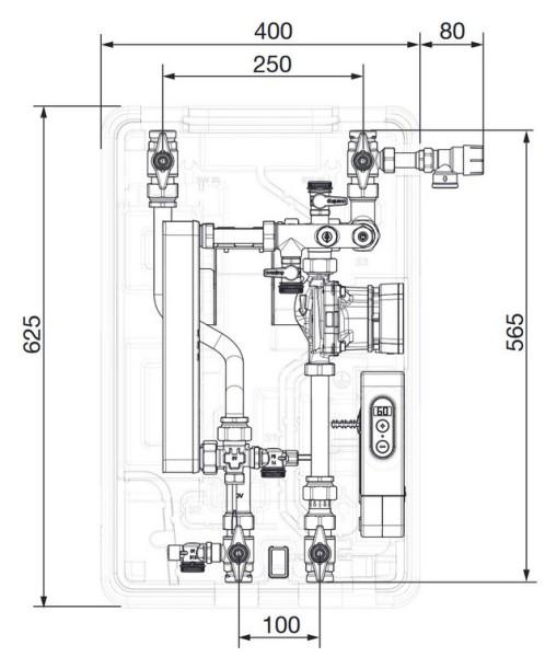 AHT Frischwasserstation Regumaq X-25 mit HE-Pumpe+Wärmeübertr. vollversiegelt