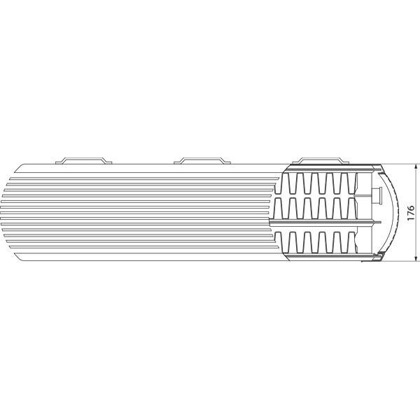 Purmo Dekorativheizkörper Faro H Typ 33, dreilagig drei Konvektoren