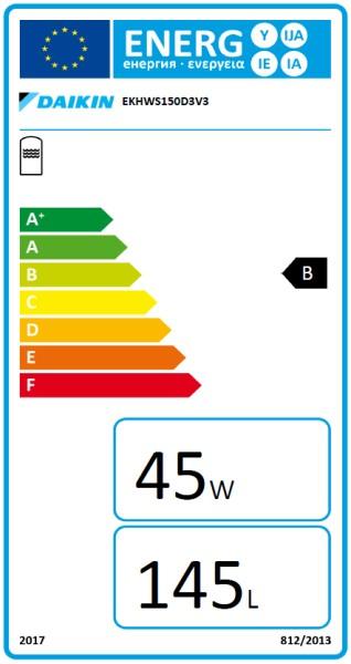 DAIKIN EKHWS150D3V3, 150 Liter Trinkwasserspeicher zur DAIKIN Altherma 3 R W / 3 H H T W