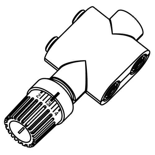 Purmo Anschlussarmaturen für Mittenanschluss (1-Rohr), Durchgangsform