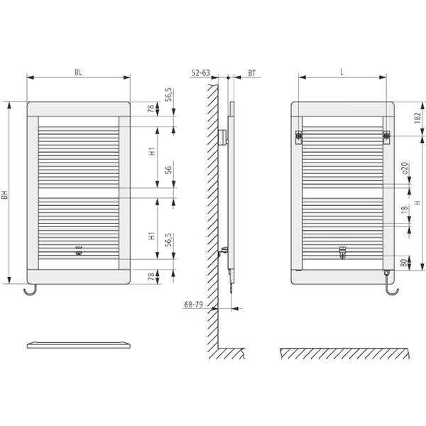 Kermi Credo plus-Elektro Design-Badheizkörper