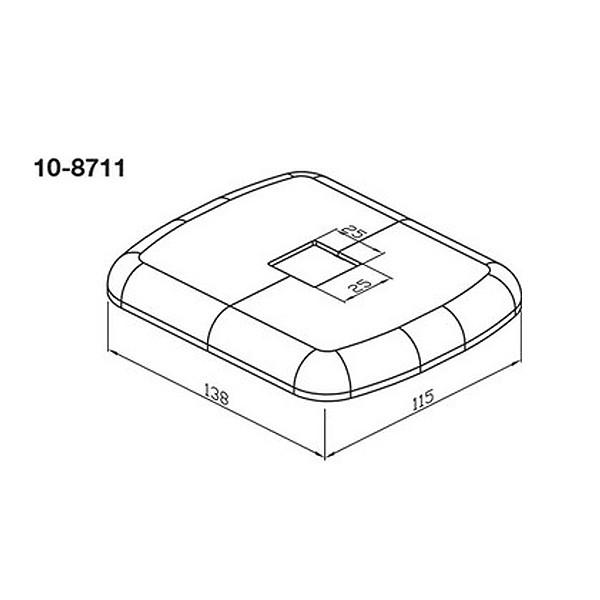 Wemefa Kunststoffrosette weiß-glänzend für Fuß bzw. Hubkonsole 8420-N, 8440-N
