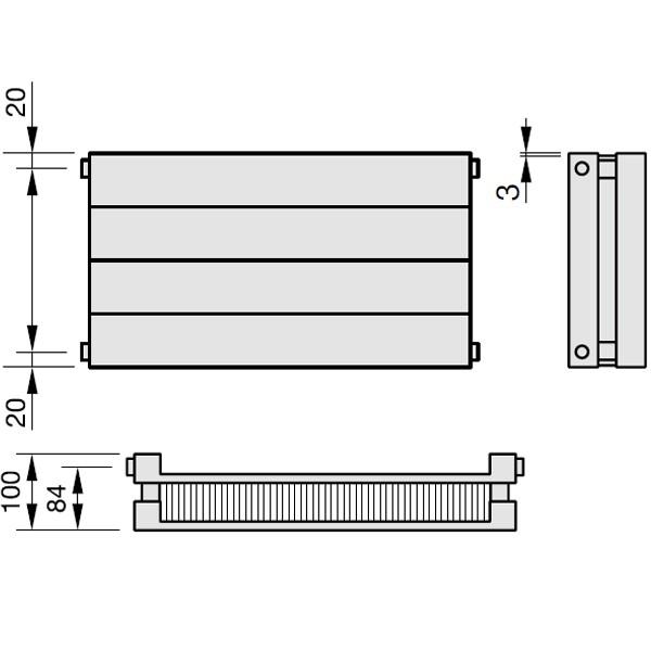 Zehnder Radiapanel, Heizwand Typ HLH, horizontal