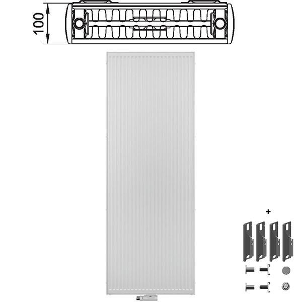 kermi verteo profil flachheizk rper typ 22 zweireihig zwei konvektoren alternative haustechnik. Black Bedroom Furniture Sets. Home Design Ideas