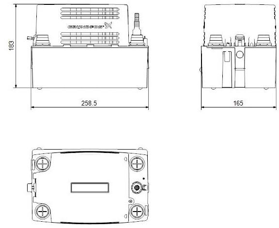 GRUNDFOS Kondensathebeanlage CONLIFT1 230V, 0,075kW 2m Kabel, # 97936156