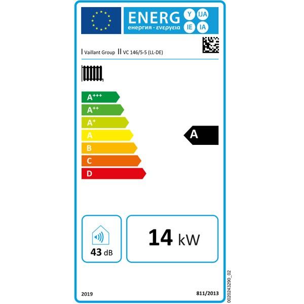 Vaillant Gas-Wandheizgerät ecoTEC plus VC 146/5-5 LL Brennwert