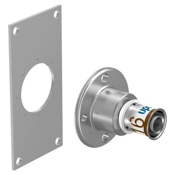 "Uponor S-Press PLUS MLC U-Wandscheibe 16 x 1//2/""IG x 16 mm"
