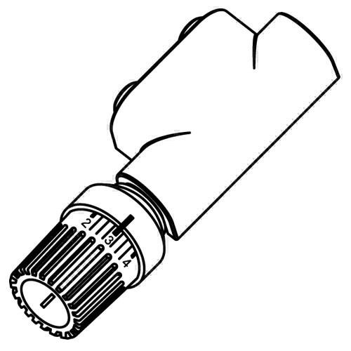 Purmo Anschlussarmaturen für Mittenanschluss (1-Rohr), Eckform