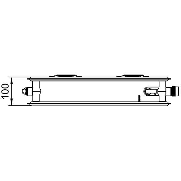 Kermi therm-x2 Profil-Ventil-Hygieneheizkörper Typ 20, zweireihig ohne Konvektor