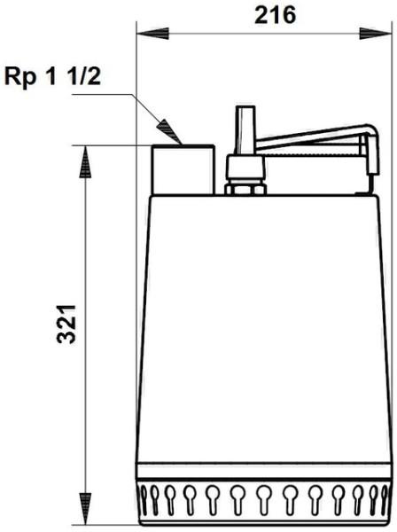GRUNDFOS Schmutzwasserpumpe AP 12.40.04.A1 mit 5 mtr. Kabel, 230 V, GRUNDFOS # 96011017