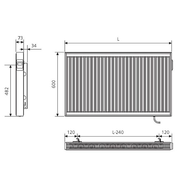 Kermi x-therm +e Elektro-Flachheizkörper Profil