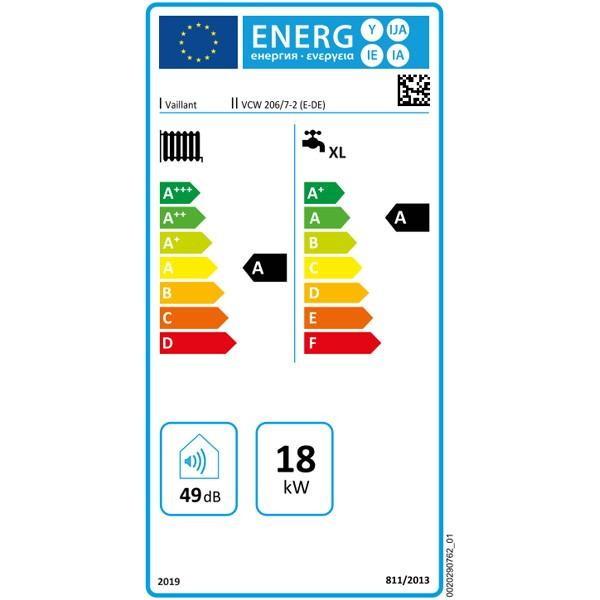 Vaillant Gas-Wandheizgerät ecoTEC pure VCW 206/7-2 E, LL Brennwert