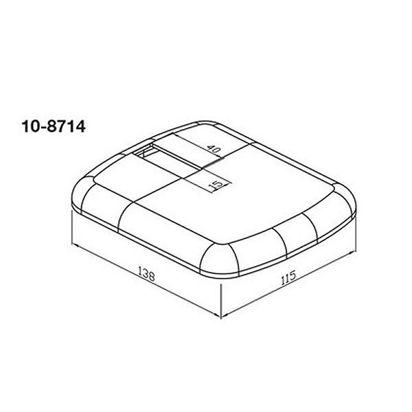 WEMEFA Kunststoffrosette weiß-glänzend für Fuß 705