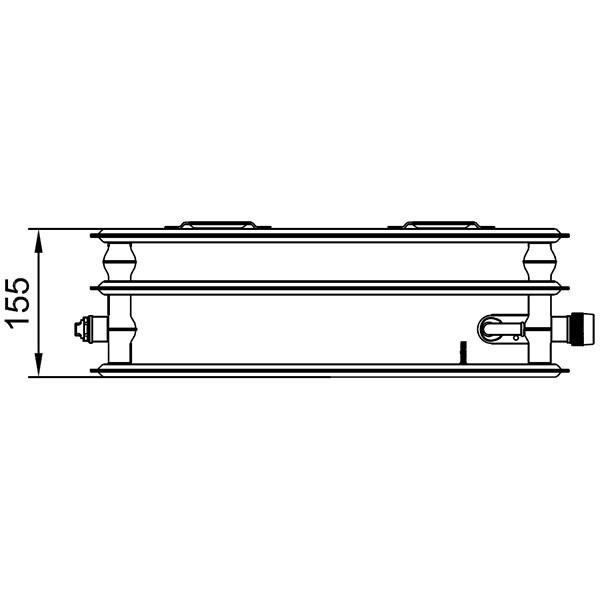 Kermi therm-x2 Profil-Ventil-Hygieneheizkörper Typ 30, dreireihig ohne Konvektor