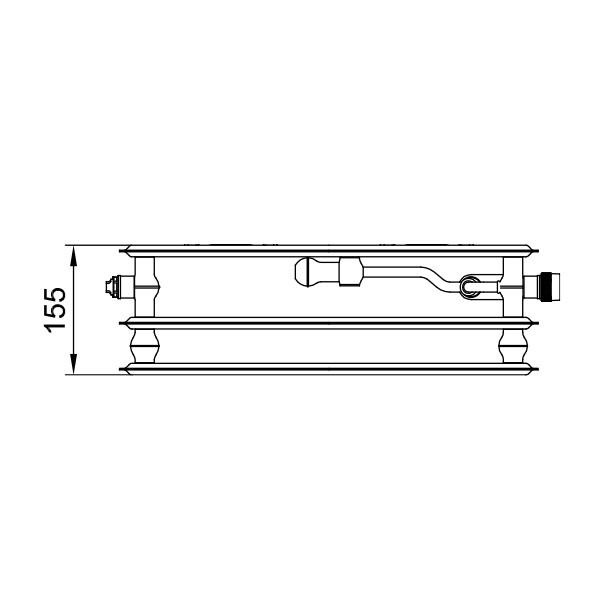 Kermi therm-x2 Profil-Vplus-Ventil-Hygieneheizkörper Typ 30, dreireihig ohne Konvektoren