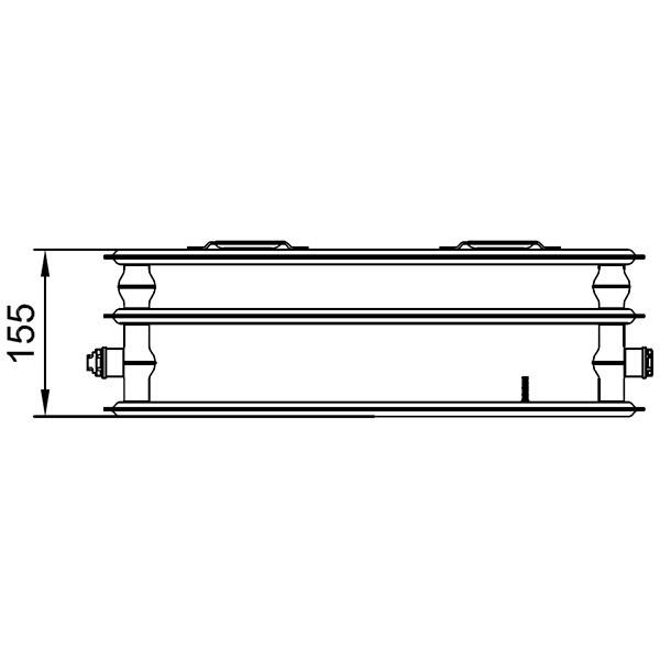 Kermi therm-x2 Profil-Kompakt-Hygieneheizkörper Typ 30, dreireihig ohne Konvektor