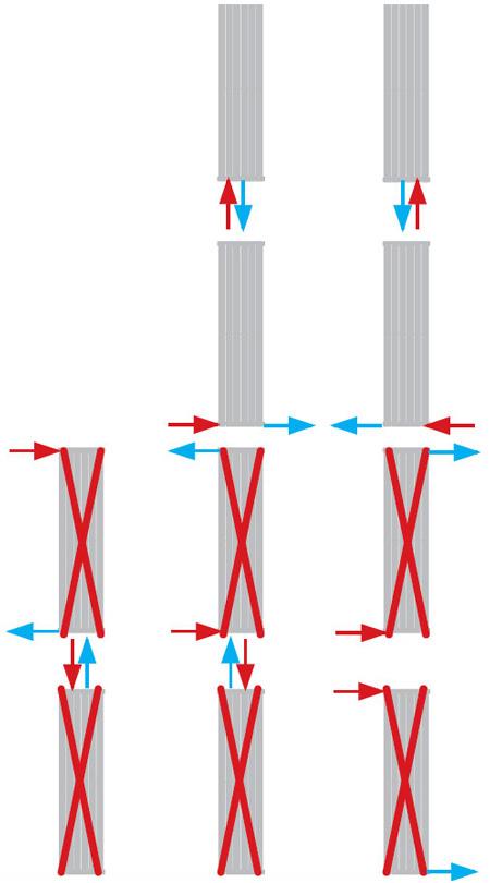 Henrad Verona Vertical Vertikalheizkörper Anschlussmöglichkeiten
