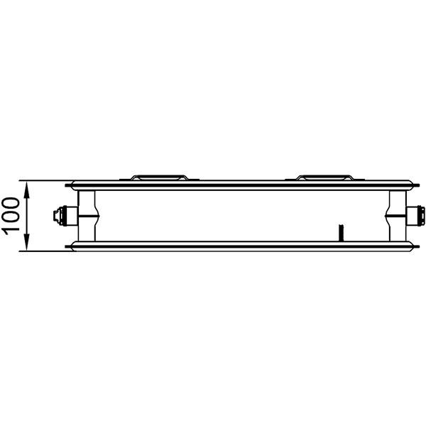Kermi therm-x2 Profil-Kompakt-Hygieneheizkörper Typ 20, zweireihig ohne Konvektor