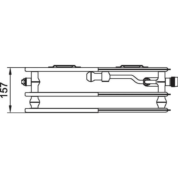 Kermi therm-x2 Line-Vplus-Ventil-Hygieneheizkörper Typ 30, dreireihig ohne Konvektor