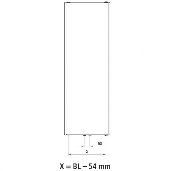 Kermi Verteo-Plan-Flachheizkörper Typ 10, einreihig ohne Konvektor
