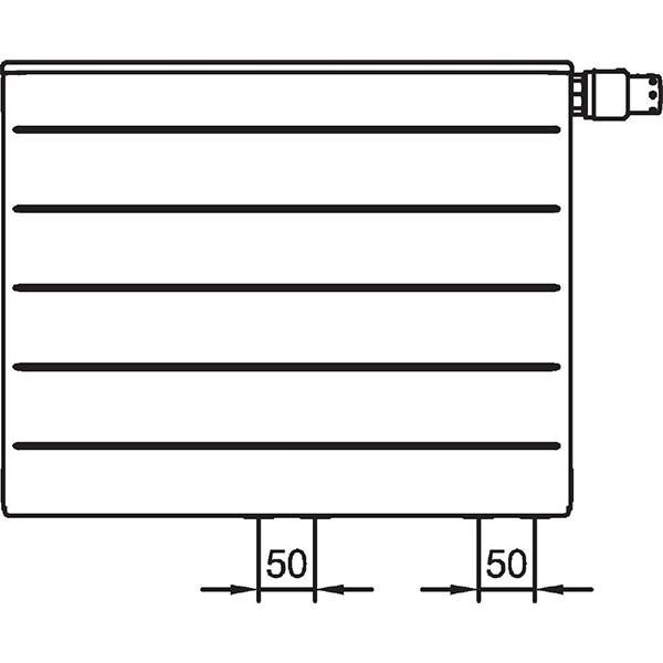 Kermi therm-x2 Line-Vplus-Ventilheizkörper Typ 22, zweireihig zwei Konvektoren